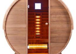 Infra4Health barrel infrarood sauna clear