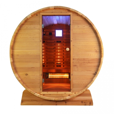 Infra4Health Barrel sauna infrarood Knotty